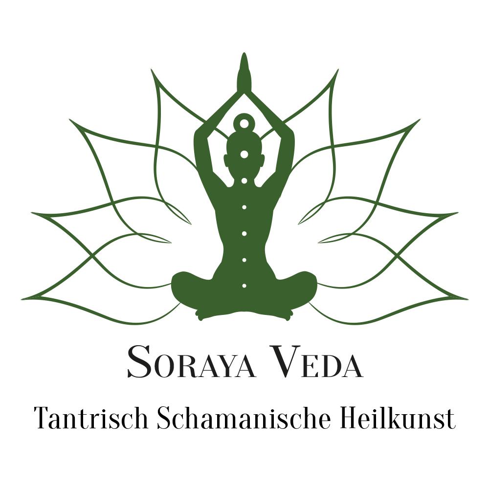 Logo SORAYA VEDA mit Slogan